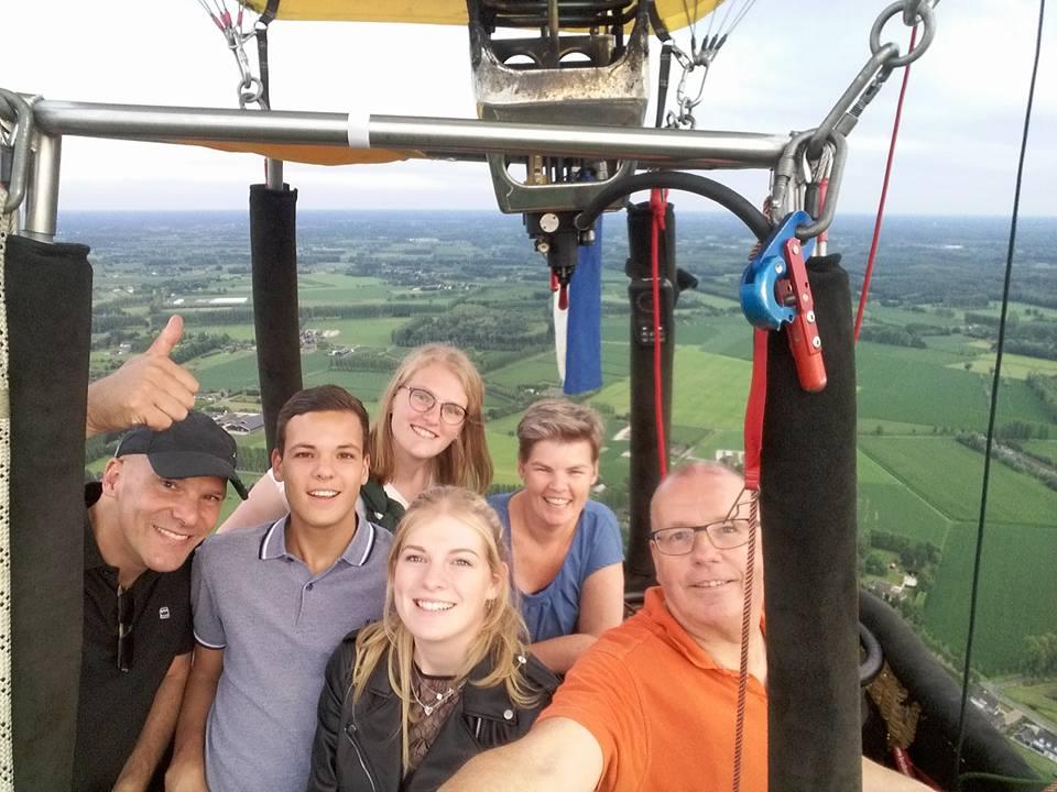 ballonvaart 5 personen familie