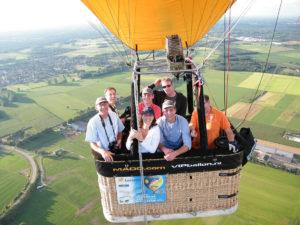 ballonvaren Leende landing luchtballon Swartbroek