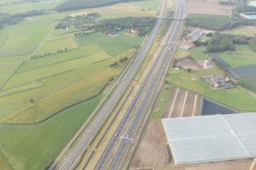 We steke de A67 bij Eersel over